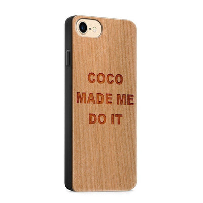 Wood  - Coco Made Me Do It - Milkyway Cases -  iPhone - Samsung - Clear Cute Silicone Phone Case Cover