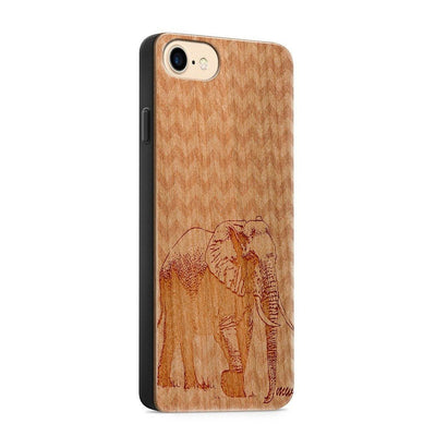 Wood  - Chevron Elephant - Milkyway Cases -  iPhone - Samsung - Clear Cute Silicone Phone Case Cover