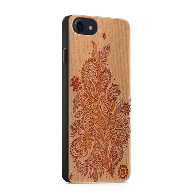 Wood  - Abstract Floral Pattern - Milkyway Cases -  iPhone - Samsung - Clear Cute Silicone Phone Case Cover