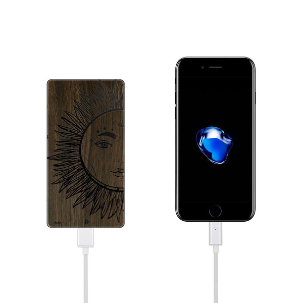 Walnut Power Bank Charger - Sublime Star - Milkyway Cases -  iPhone - Samsung - Clear Cut Silicone Phone Case Cover
