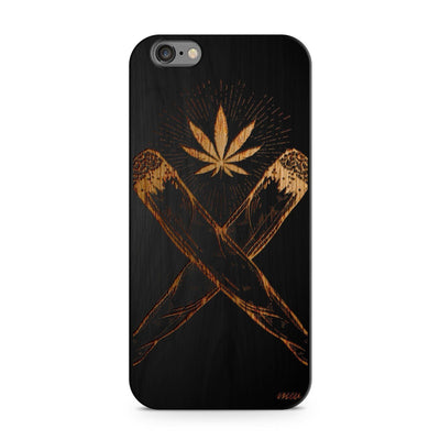 Black Bamboo - Crossed Joint - Milkyway Cases -  iPhone - Samsung - Clear Cut Silicone Phone Case Cover
