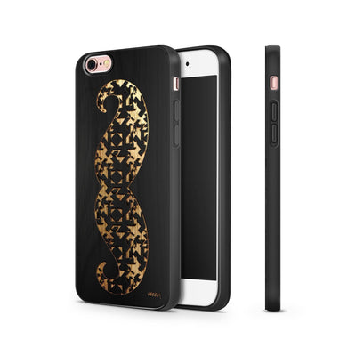 Black Bamboo - Aztec Mustache - Milkyway Cases -  iPhone - Samsung - Clear Cut Silicone Phone Case Cover