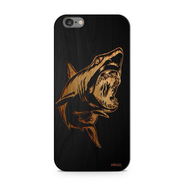Black Bamboo - Shark - Milkyway Cases -  iPhone - Samsung - Clear Cut Silicone Phone Case Cover