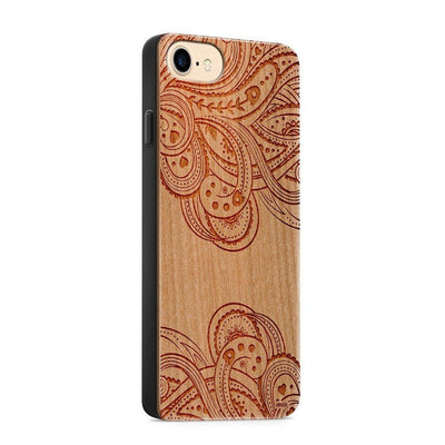 Wood  - Hazel Mandala - Milkyway Cases -  iPhone - Samsung - Clear Cute Silicone Phone Case Cover