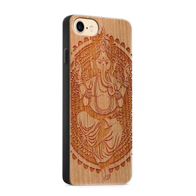 Wood  - Ganesh Queen - Milkyway Cases -  iPhone - Samsung - Clear Cute Silicone Phone Case Cover