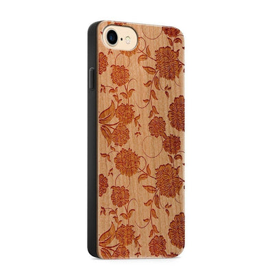 Wood  - Chrysanthemum - Milkyway Cases -  iPhone - Samsung - Clear Cute Silicone Phone Case Cover