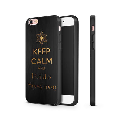 Black Bamboo - Keep Calm and Build a Snowman - Milkyway Cases -  iPhone - Samsung - Clear Cut Silicone Phone Case Cover