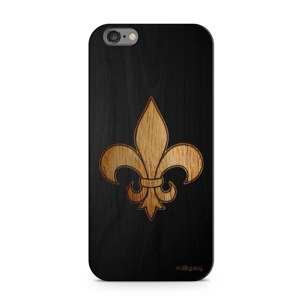 Black Bamboo - Fleur De Lis - Milkyway Cases -  iPhone - Samsung - Clear Cut Silicone Phone Case Cover