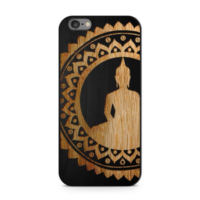 Black Bamboo - Mandala Buddha - Milkyway Cases -  iPhone - Samsung - Clear Cut Silicone Phone Case Cover