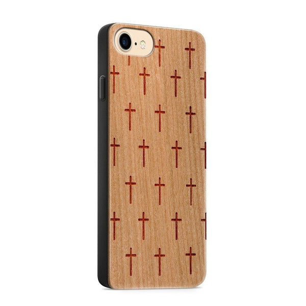 Wood  - Mini Crosses - Milkyway Cases -  iPhone - Samsung - Clear Cute Silicone Phone Case Cover