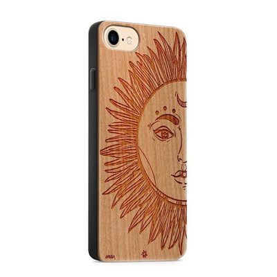 Wood  - Sublime Star - Milkyway Cases -  iPhone - Samsung - Clear Cute Silicone Phone Case Cover