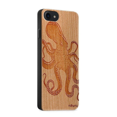 Wood  - Kraken Octopus iphone 6 7 8