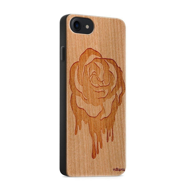 Wood  - Dripping Rose iphone 6 7 8