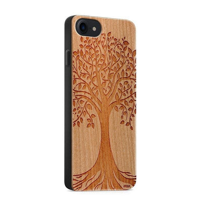 Wood  - Tree of Life - Milkyway Cases -  iPhone - Samsung - Clear Cute Silicone Phone Case Cover