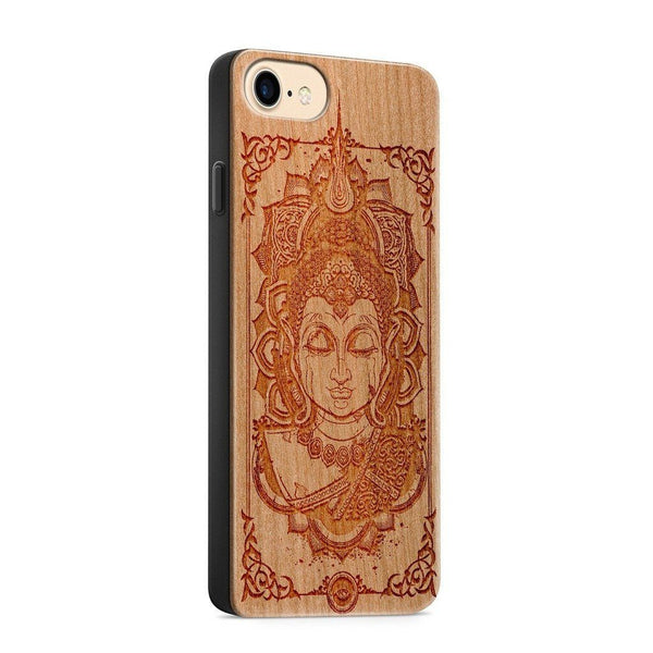 Wood  - Varada Mudra Buddha - Milkyway Cases -  iPhone - Samsung - Clear Cute Silicone Phone Case Cover