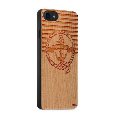Wood  - Nautical Refuse to Sink iphone 6 7 8