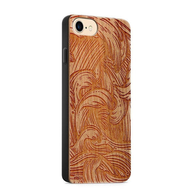 Wood  - New Wave - Milkyway Cases -  iPhone - Samsung - Clear Cute Silicone Phone Case Cover
