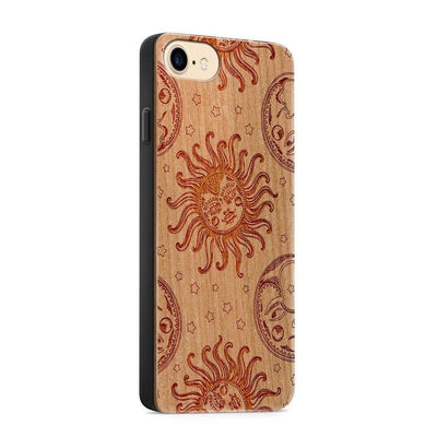 Wood  - Solstice - Milkyway Cases -  iPhone - Samsung - Clear Cut Silicone Phone Case Cover