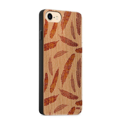 Wood  - Feather Overload - Milkyway Cases -  iPhone - Samsung - Clear Cute Silicone Phone Case Cover