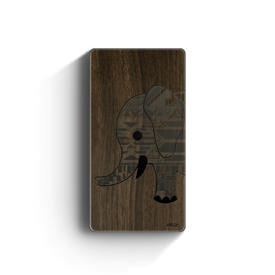 Walnut Power Bank Charger - Chevron Elephant - Milkyway Cases -  iPhone - Samsung - Clear Cute Silicone Phone Case Cover