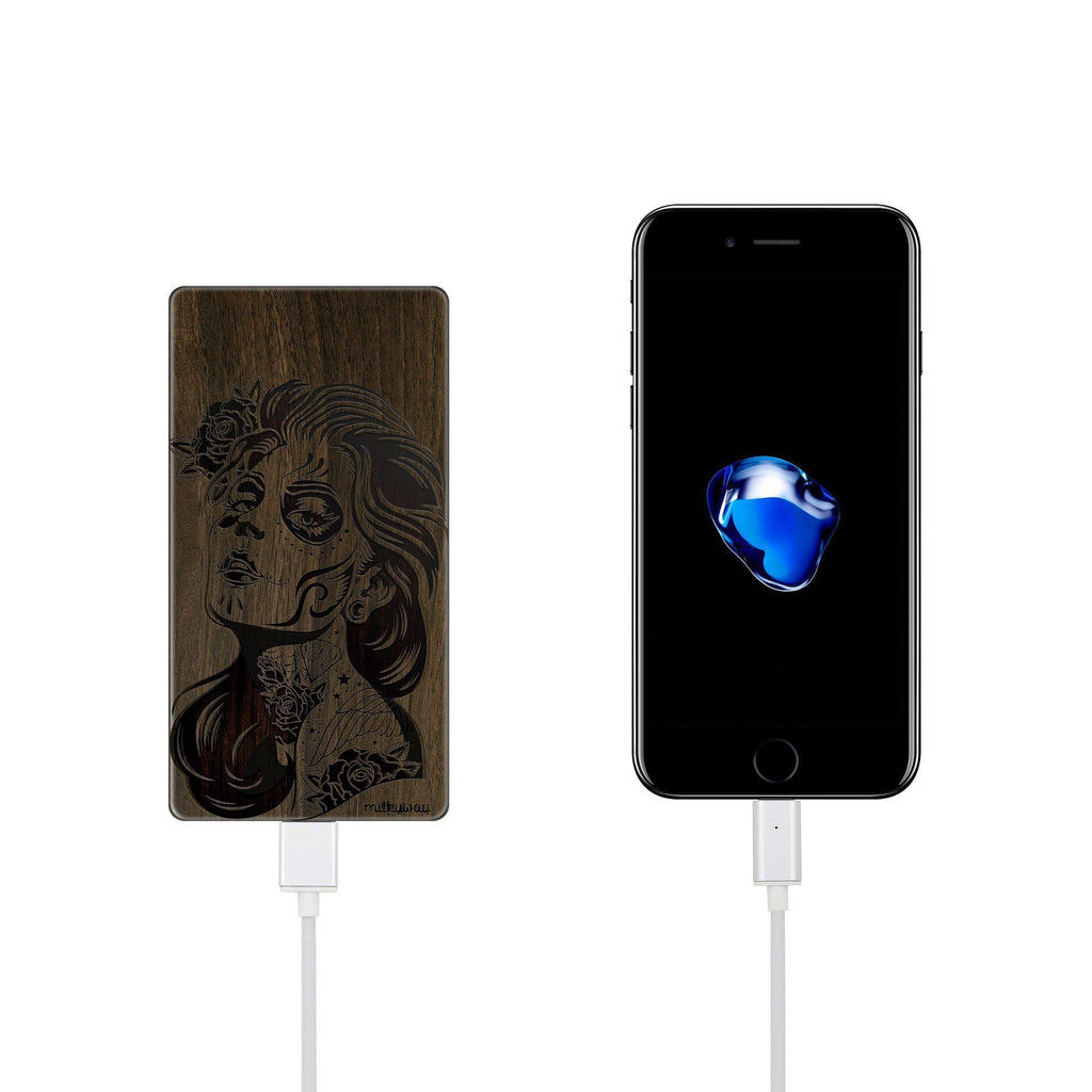 Walnut Power Bank Charger - Sucre Cranio