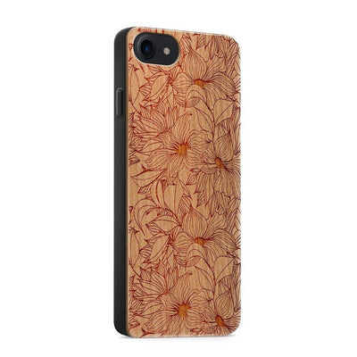 Wood  - Anastasia Lily - Milkyway Cases -  iPhone - Samsung - Clear Cute Silicone Phone Case Cover