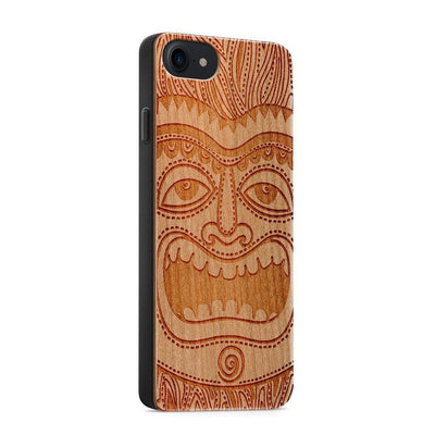 Wood  - Tiki - Milkyway Cases -  iPhone - Samsung - Clear Cute Silicone Phone Case Cover