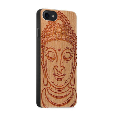 Wood  - Thai Buddha - Milkyway Cases -  iPhone - Samsung - Clear Cute Silicone Phone Case Cover