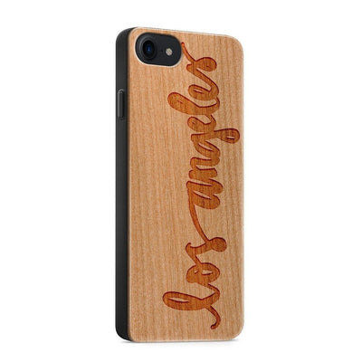 Wood  - Los Angeles Script - Milkyway Cases -  iPhone - Samsung - Clear Cute Silicone Phone Case Cover