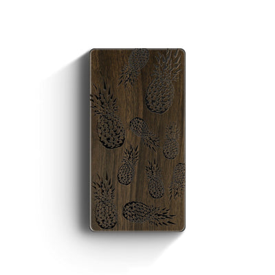 Walnut Power Bank Charger - Pineapple Overload - Milkyway Cases -  iPhone - Samsung - Clear Cut Silicone Phone Case Cover