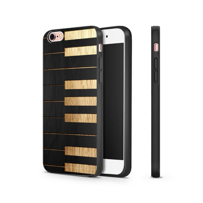 Black Bamboo - Piano Keys - Milkyway Cases -  iPhone - Samsung - Clear Cut Silicone Phone Case Cover