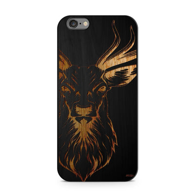 Black Bamboo - Stag - Milkyway Cases -  iPhone - Samsung - Clear Cut Silicone Phone Case Cover