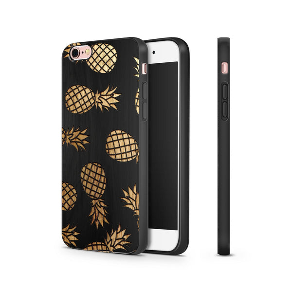 Black Bamboo - Pineapple Pandemonium - Milkyway Cases -  iPhone - Samsung - Clear Cut Silicone Phone Case Cover