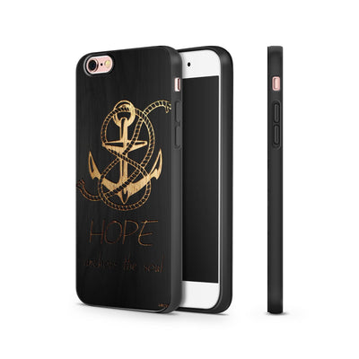 Black Bamboo - Hope Anchors the Soul - Milkyway Cases -  iPhone - Samsung - Clear Cut Silicone Phone Case Cover