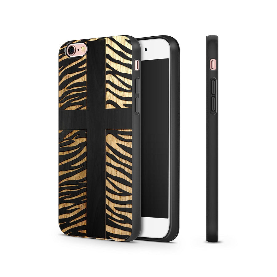 Black Bamboo - Cross Leopard - Milkyway Cases -  iPhone - Samsung - Clear Cut Silicone Phone Case Cover
