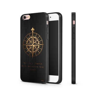 Black Bamboo - Compass - Milkyway Cases -  iPhone - Samsung - Clear Cut Silicone Phone Case Cover