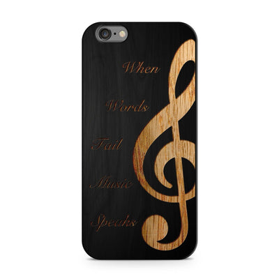 Black Bamboo - When Music Speaks - Milkyway Cases -  iPhone - Samsung - Clear Cut Silicone Phone Case Cover