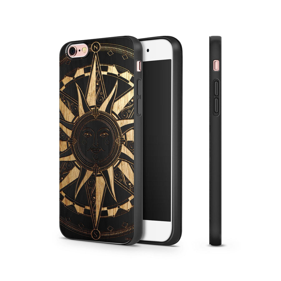 Black Bamboo - Compass Tribal Sun - Milkyway Cases -  iPhone - Samsung - Clear Cut Silicone Phone Case Cover