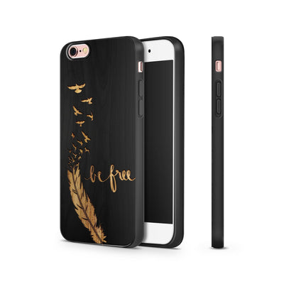 Black Bamboo - Be Free - Milkyway Cases -  iPhone - Samsung - Clear Cut Silicone Phone Case Cover
