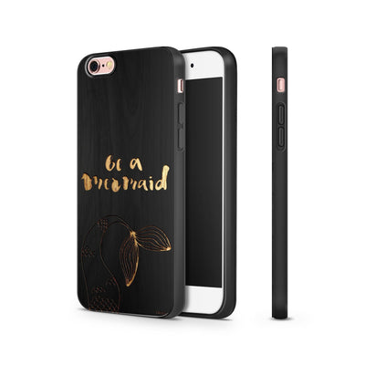 Black Bamboo - Be A Mermaid - Milkyway Cases -  iPhone - Samsung - Clear Cut Silicone Phone Case Cover