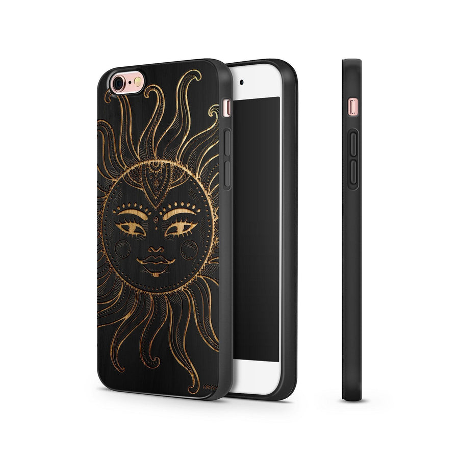 Black Bamboo - Ethnic Tribal Sun - Milkyway Cases -  iPhone - Samsung - Clear Cut Silicone Phone Case Cover