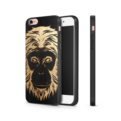 Black Bamboo - Ape - Milkyway Cases -  iPhone - Samsung - Clear Cut Silicone Phone Case Cover