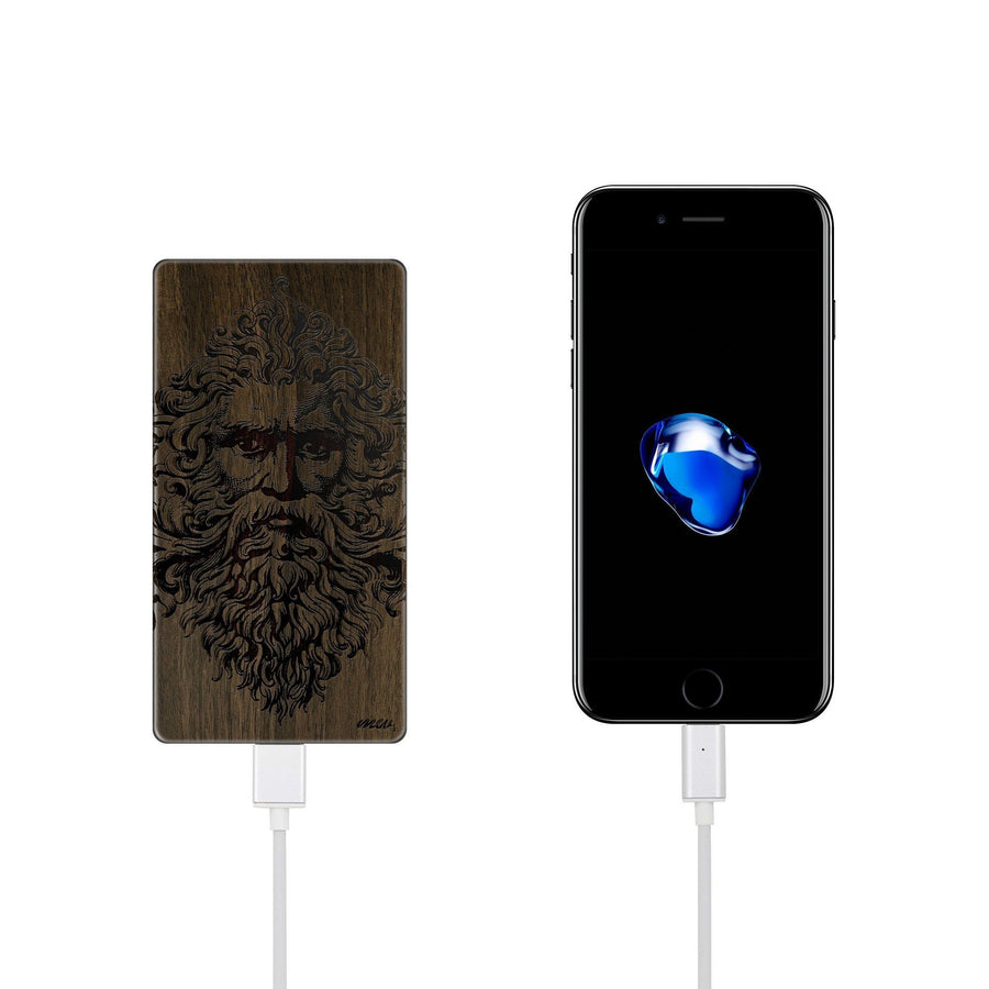 Walnut Power Bank Charger - Zeus