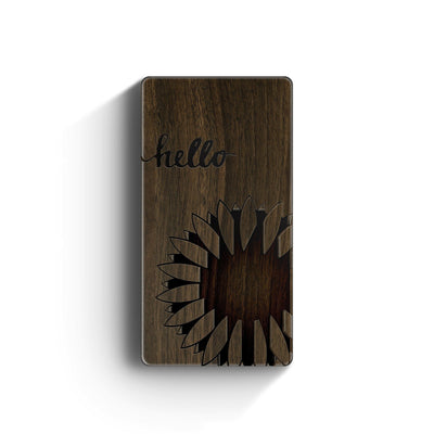 Walnut Power Bank Charger - Hello Sunshine - Milkyway Cases -  iPhone - Samsung - Clear Cut Silicone Phone Case Cover