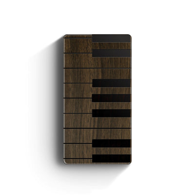 Walnut Power Bank Charger - Piano Keys - Milkyway Cases -  iPhone - Samsung - Clear Cut Silicone Phone Case Cover