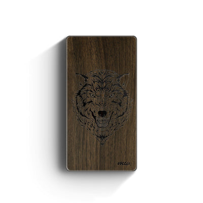 Walnut Power Bank Charger - Husky Wolf - Milkyway Cases -  iPhone - Samsung - Clear Cut Silicone Phone Case Cover