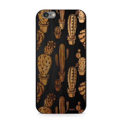 Black Bamboo - Cactus Overload - Milkyway Cases -  iPhone - Samsung - Clear Cut Silicone Phone Case Cover