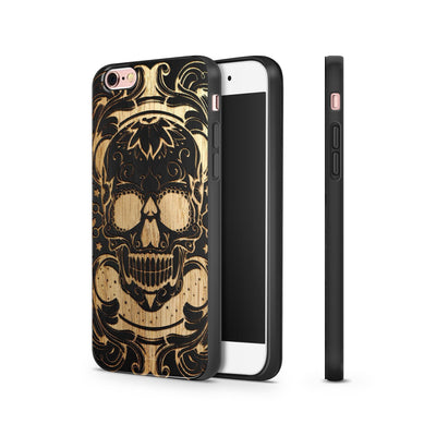 Black Bamboo - Maniac Skull - Milkyway Cases -  iPhone - Samsung - Clear Cut Silicone Phone Case Cover