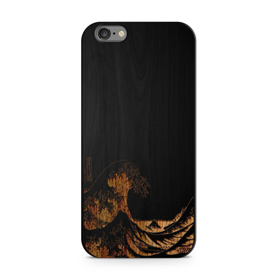 Great Wave Off Kanagawa - Wood - iPhone Case