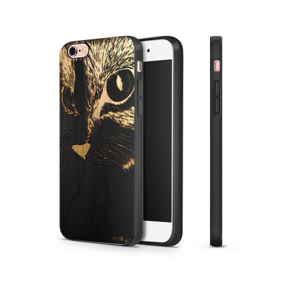 Black Bamboo - Cat Eyes - Milkyway Cases -  iPhone - Samsung - Clear Cut Silicone Phone Case Cover